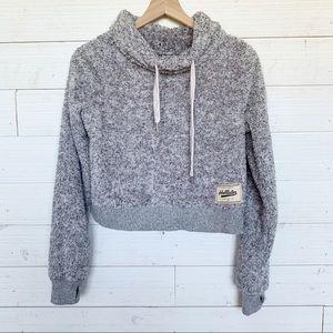Hollister Cropped Teddy Bear Sherpa Sweatshirt